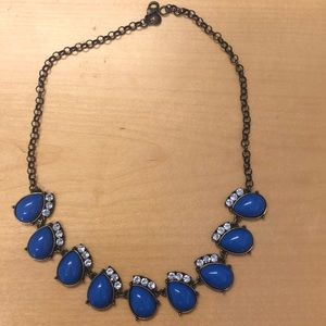 J. Crew necklace with blue stones.